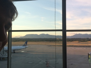 The mountains outside of the Vancouver airport!